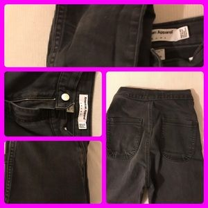 Black high wasted jeans from American Apparel